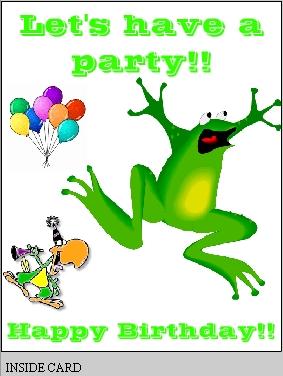 Free Printable Birthday Card with frog, Free Printable Greeting Card: makecustomcard.com/birthday10.html